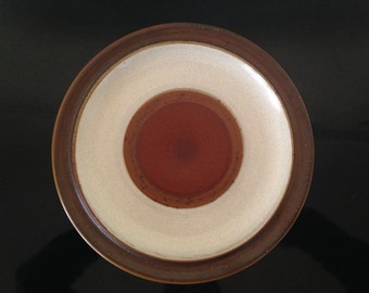 """Denby Langley Potter's Wheel Rust Dinner Plate 10 1/4"""""""