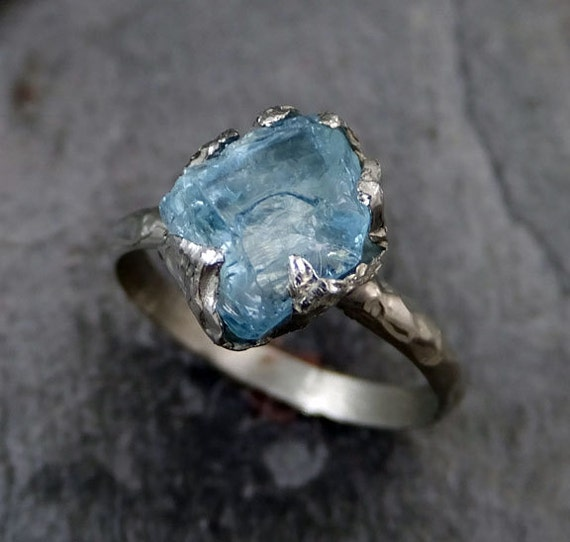 Raw Uncut Aquamarine Ring Solid 14k White Gold Ring Wedding. Luxury Bracelet. 14k Gold Anniversary Band. Two Tone Bands. Baguette Bracelet. Growth Rings. Cushion Wedding Rings. Orange Sapphire Earrings. Trendy Watches