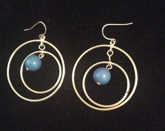 Dangle silver toned earrings 2 in