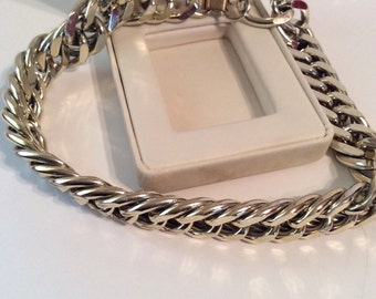 Silver toned chain necklace 15 in