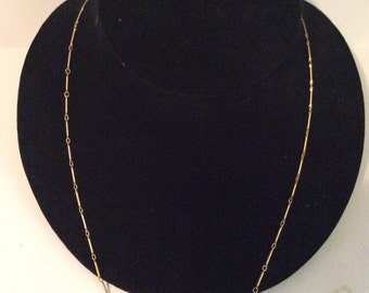 Gold toned chain necklace 22 in