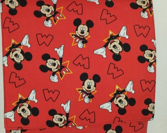 Mickey Mouse Red and Black Messenger Bag, Cross Body, Shoulder Bag for Teens