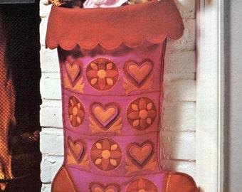 Giant Christmas Stocking, Felt Pattern - 2 feet!