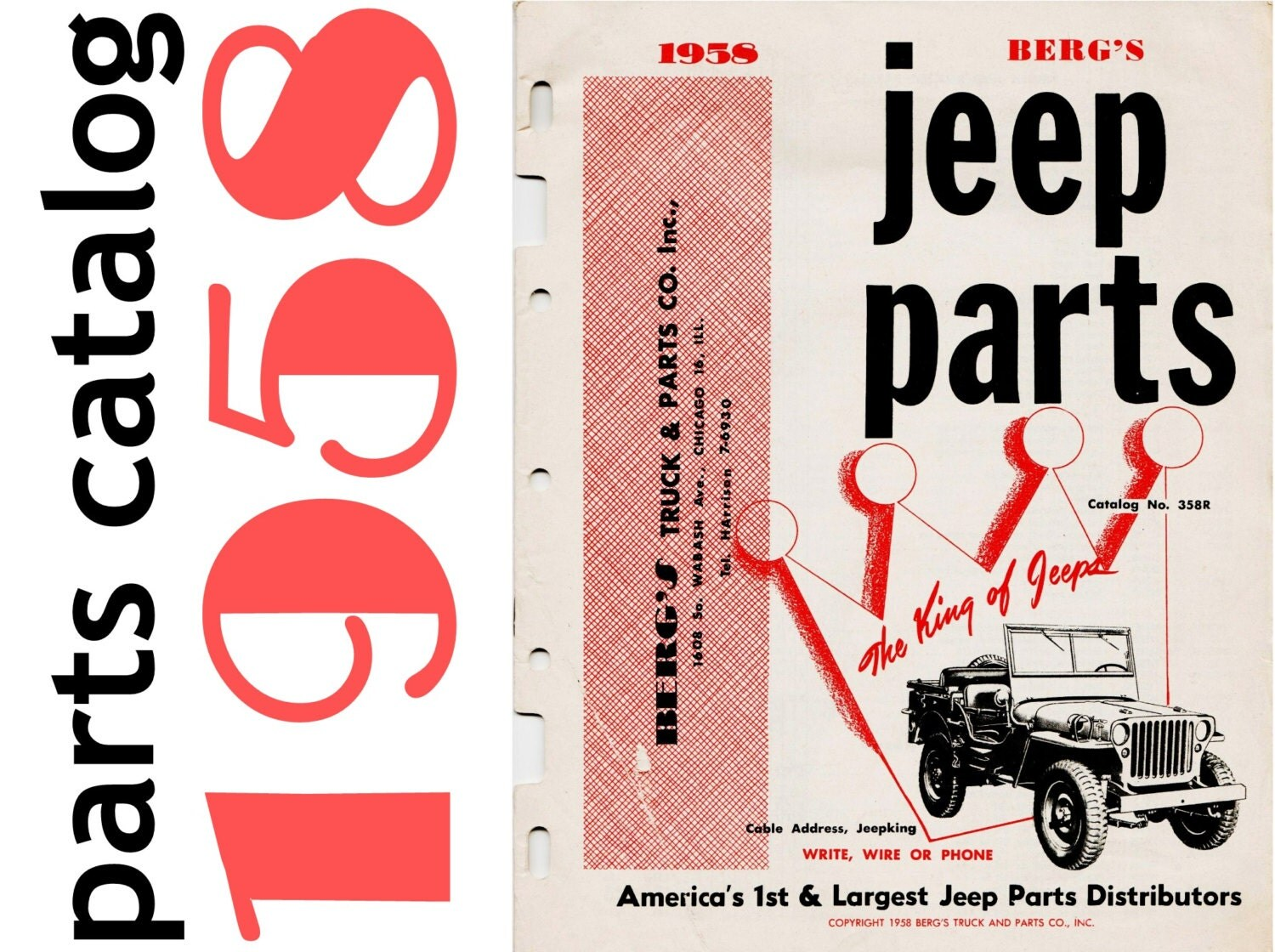 1958 jeep parts catalog berg 39 s truck parts co jeep. Cars Review. Best American Auto & Cars Review