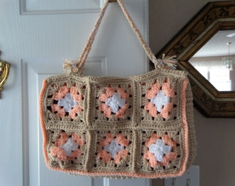Crocheted Granny Purse and Coin Purse