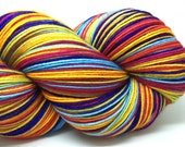 Self striping merino nylon sock yarn CIRCUS POODLES colorway