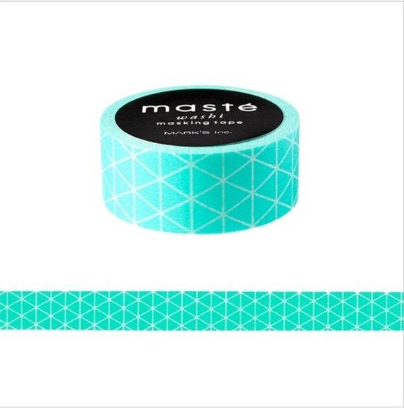 Turquoise geometric washi tape maste mint triangle for Geometric washi tape designs