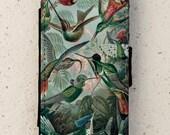 iphone 4, 5 or 6 case - flip case - Hummingbirds - cover - design - Galaxy S3, S3 mini, S4, S4mini, S5