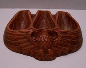 Vintage Syroco Wood Eagle Pipe Holder