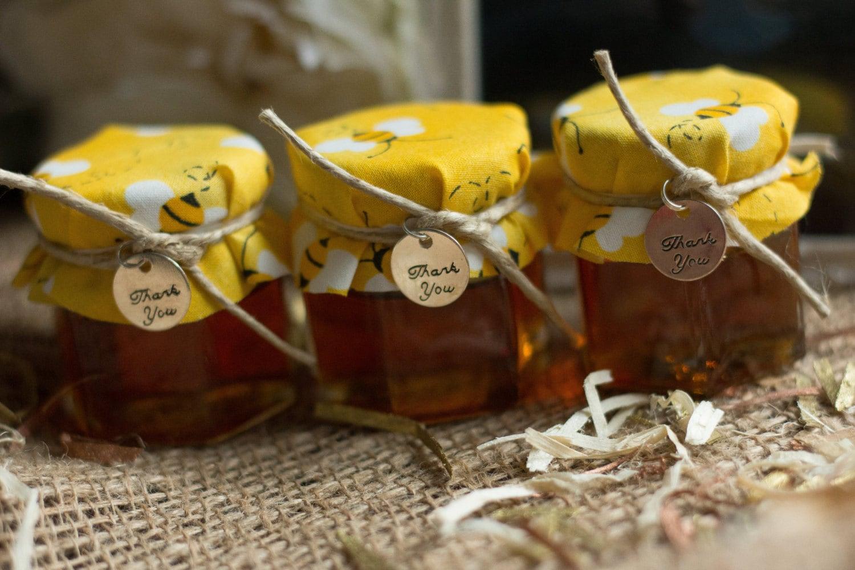 Honey jar favors wedding favors baby shower favors bumble for Honey bee wedding favors
