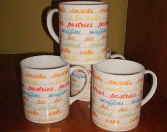 Vintage Laurent Toscany Snack Mug Set of 4