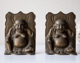 Vintage pair of Buddha bookends