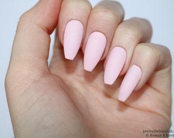 Matte burgundy coffin nails nail designs nail art nails matte pastel pink coffin nails nail designs nail art nails stiletto nails prinsesfo Images