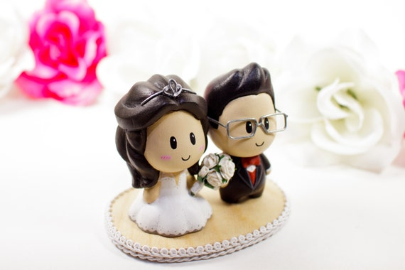 Wedding Cake Topper Cake Topper Cute Cake Topper By NgoCreations