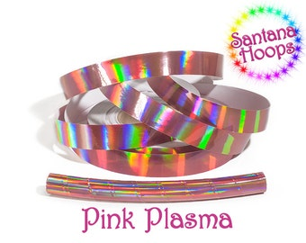 Pink Plasma Rainbow Taped Performance Hula Hoop Polypro or HDPE