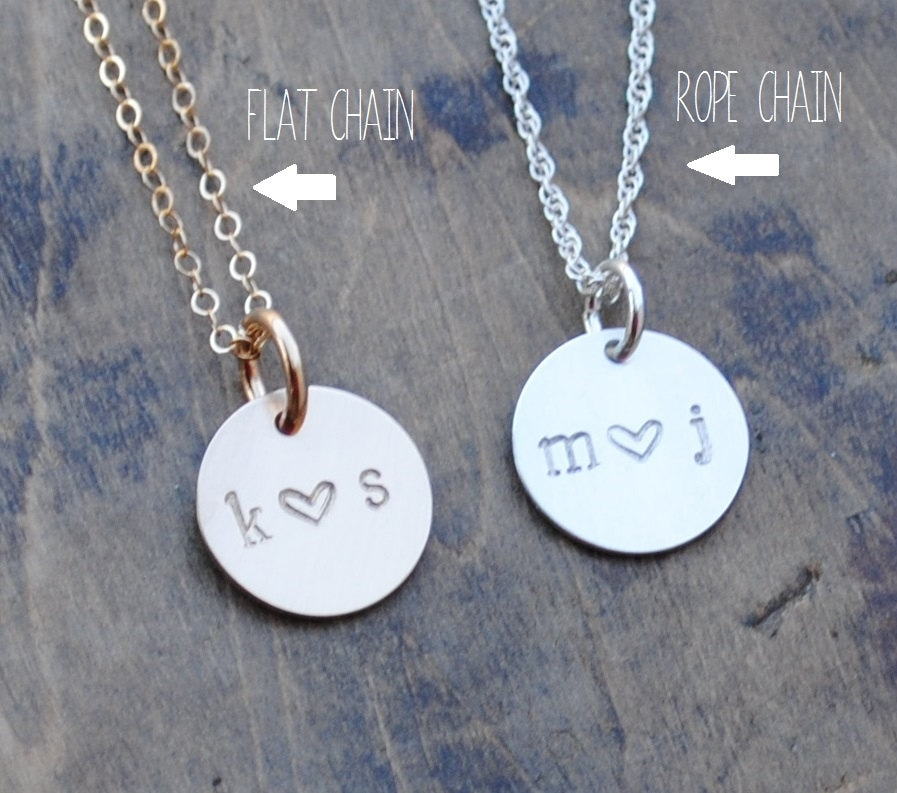 READY TO SHIP . Soulmate Initial Necklace . Couples