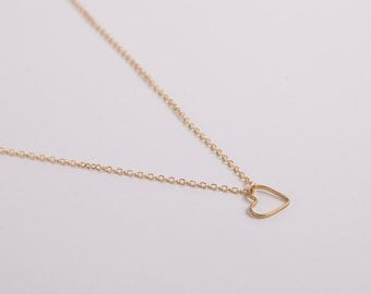 Fine Golden Necklace Gold Necklace Heart Goldheart Heart Necklace Love Valentines Day Rose