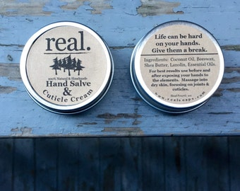 Cuticle Cream, Solid Lotion, Lotion Tin, Hand Salve