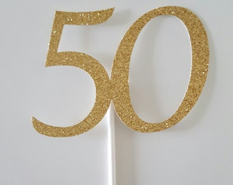 50th Cake Topper, 50 Cake Topper, Anniversary Cake Topper, Birthday Cake Topper, 50th Birthday, Anniversary Decor