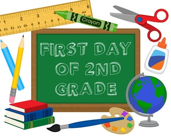 First Day of School Sign, first day of second grade, back to school