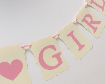 It's A Girl Banner, Baby Shower Banner, Baby Shower, It's A Girl