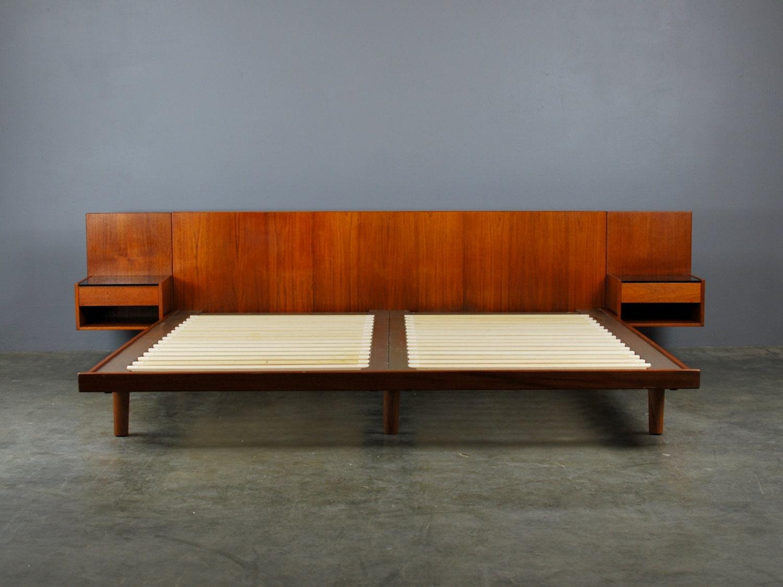 Sale Rare King Size Hans Wegner Bed For Getama Danish Modern
