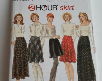 Simplicity sewing pattern 9765 2-Hour Misses' Set of Bias Skirts in sizes 16, 18, 20