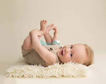 Knit Baby Overall romper pattern all sizes included NB - 1 year  #34