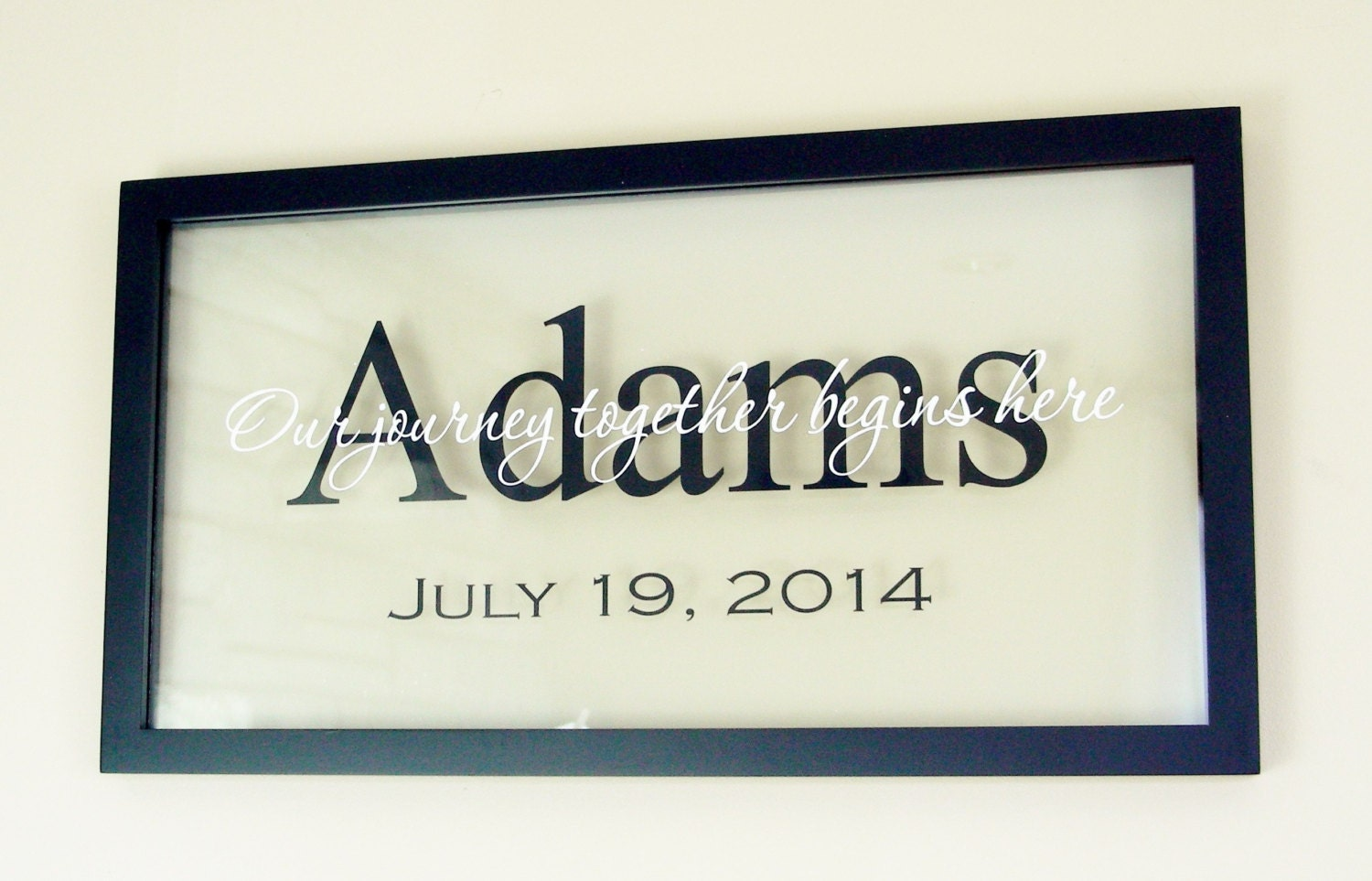 Personalized Picture Frame With Family Name Quote Family: Personalized Floating Frame Family Name By