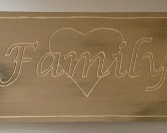 Love of Family Wall Plaque.