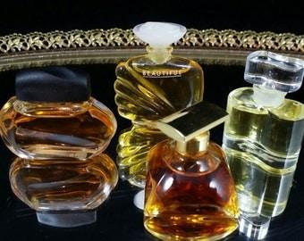 4 Estee Lauder Mini Perfume Bottle Lot Estee Lauder Perfume Bottle Set Unused Perfume Spellbound White Linen Beautiful Commercial Minis
