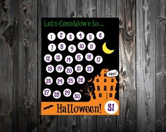 Halloween Countdown Printable Calendar