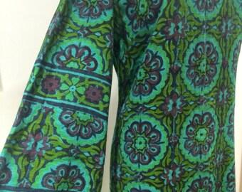 Beautiful late 60s Indian cotton block printed dress