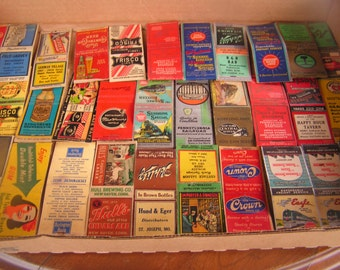 Vintage Match Book Covers