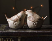 Wrens Love Birds Cake Topper or Personalized Ring Bearer Alternative - Wedding Cake Decoration - Wedding Gift  - Personalized Wedding Decor
