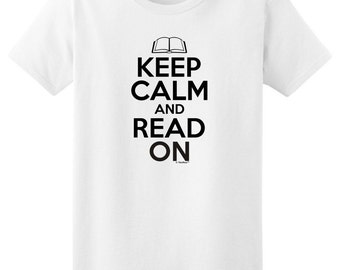 Keep Calm and Read On Ladies T-Shirt 2000L - KC-36