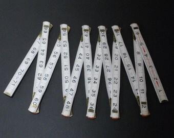 Vintage Wood Folding Measure Stick, Measuring Tape, Ruler - Industrial
