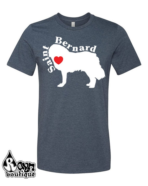 Saint Bernard dog Love Heart Dog Breed Silhouette shirt bag hoodie