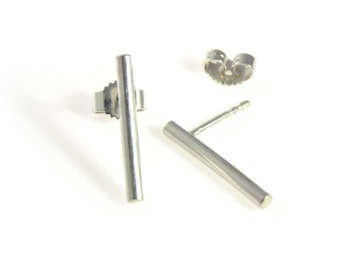 Ohrringe Silber 925 Sterling: Stick Ear - Minimalistische Ohrstecker