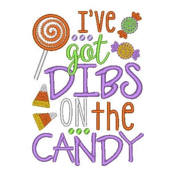 SAMPLE SALE, I've Got Dibs on the Candy Embroidered Halloween Shirt - Boys Halloween Shirt - Girls Halloween Shirt - Fall Shirt