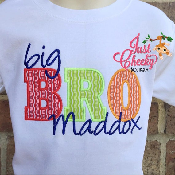 Big Brother Embroidered Shirt - Big Bro - Sibling Shirt - Boys Shirt - Family Pictures