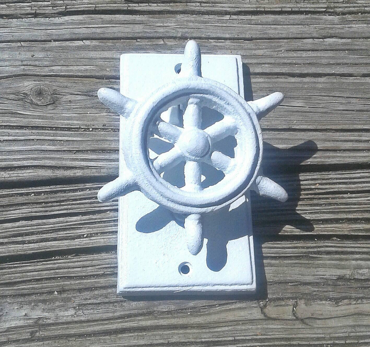Nautical door knocker ship helm door knocker by - Nautical door knockers ...