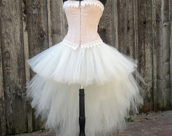 Fun and flirty burlesque bustle style skirt, perfect for bachelorette party, bridal boudior or casual wedding.