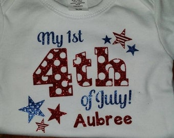 Personalized Forth of July Shirt/Bodysuit