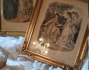 Antique French Framed Prints
