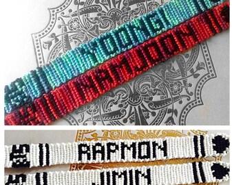 BTS Bangtan Boys KPOP Bias Friendship Bracelet You Choose Colors Custom Made to Order