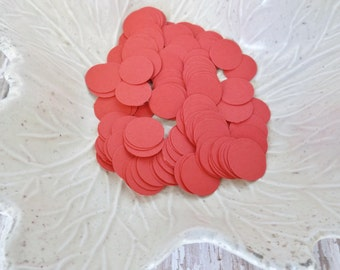 Red Paper Confetti Circles-500 Pieces-Weddings, Showers, Birthdays-1/6, 5/8, and 1.5 Inch Sizes