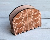 Tribal Pattern Napkin Holder