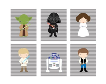 Save an Extra 25% with code WINTER25 -Set of 6 Star Wars Printables  - 8x10