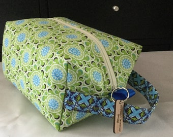 Lime Medallion Box Bag
